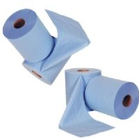 Blue Wiper Industrial Forecourt Rolls 2PLY LARGE Rolls